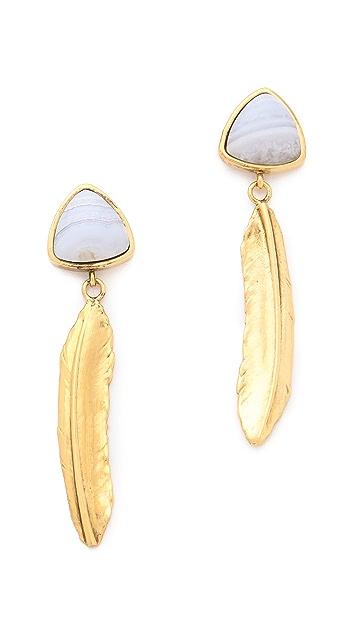 Lizzie Fortunato Desert Feather Earrings