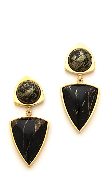 Lizzie Fortunato Elegant Outlaw Earrings