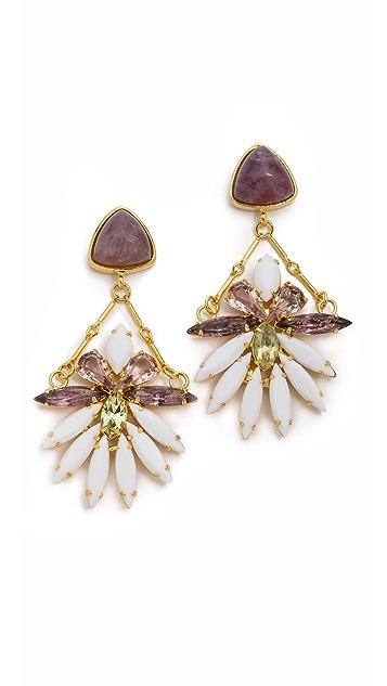 Lizzie Fortunato Lotus Blossom Earrings