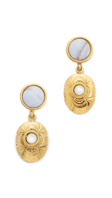 Lizzie Fortunato Circle Concho Earrings