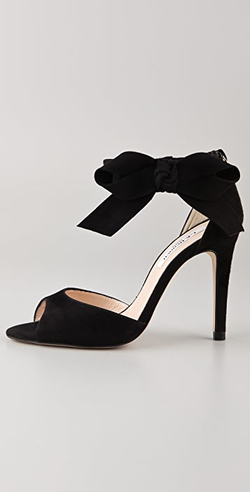 L.K. Bennett Agata Suede Bow Sandals