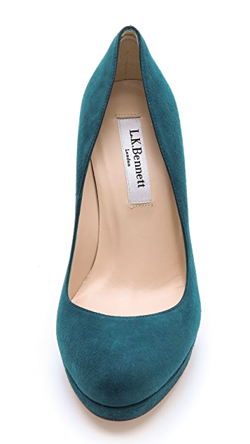 L.K. Bennett Sledge Platform Pumps