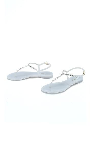 L.K. Bennett Lola Jeweled Jelly Sandals