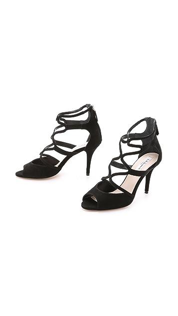 L.K. Bennett Lucia Suede Strappy Sandals