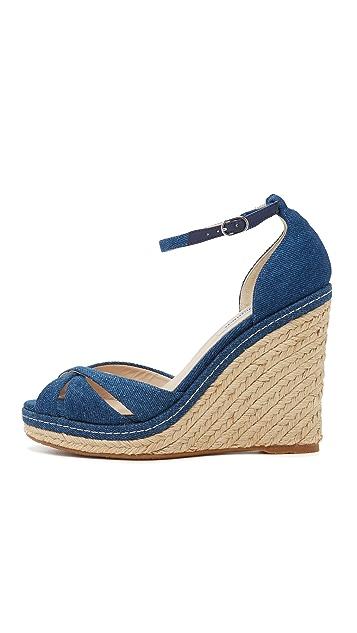 L.K. Bennett Litya Jean Wedge Sandals