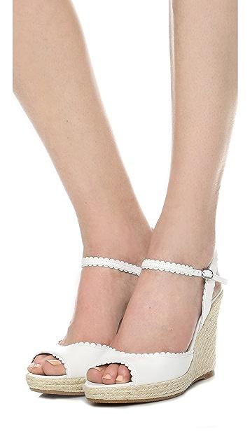 L.K. Bennett Seve Wedge Sandals