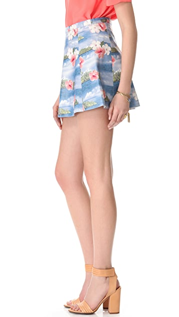 Love Leather Hawaiian Punch A Line Mini Skirt