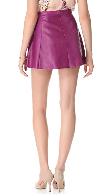 Love Leather Jawbreaker A Line Mini Skirt
