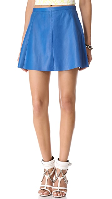 Love Leather Blue Moon Leather Miniskirt