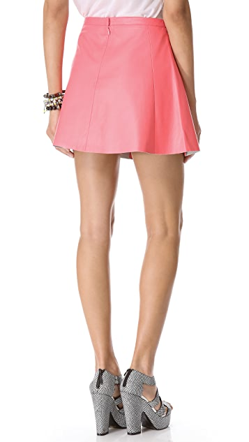 Love Leather Pink Fizz Leather Miniskirt