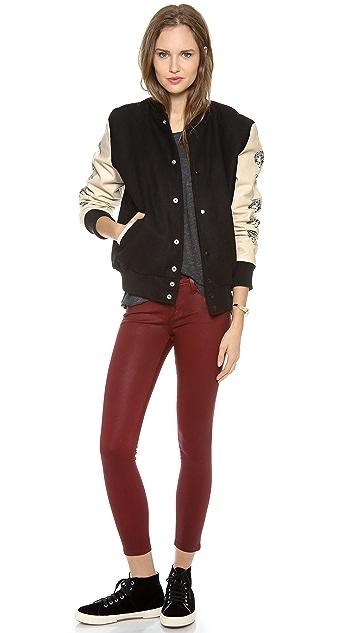 Love Leather Lover Letterman Jacket