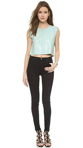 Love Leather Candy Crop Top