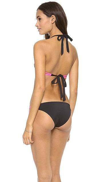 Lisa Lozano Strappy Halter Bikini Top
