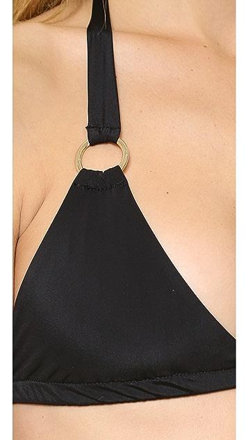 Lisa Lozano Ring Triangle Bikini Top