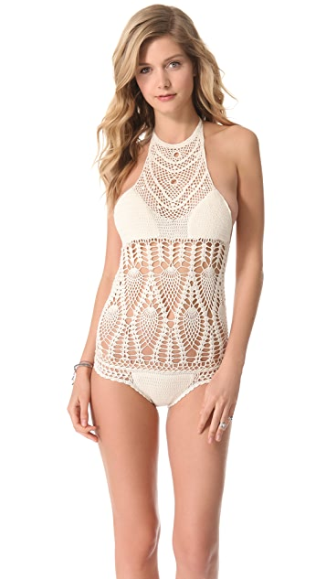 Lisa Maree Feathering Peacock Crochet Swimsuit