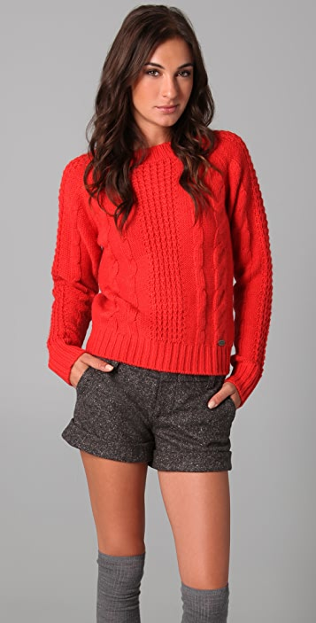 Le Mont St. Michel Cable Knit Sweater