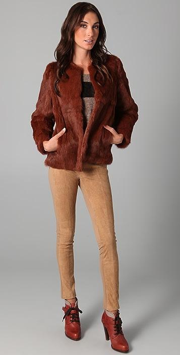 Le Mont St. Michel Short Fur Coat
