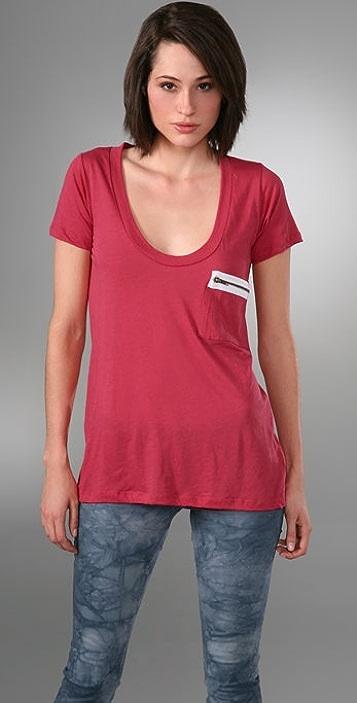LNA Short Sleeve Zipper Pocket T-Shirt