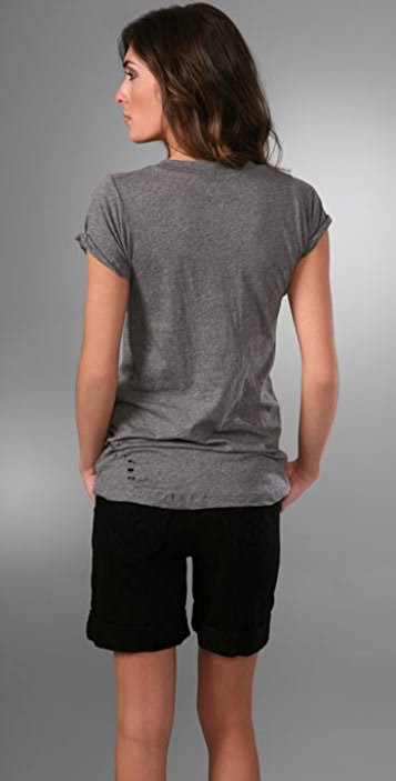 LNA Ripped Crew Neck T-Shirt