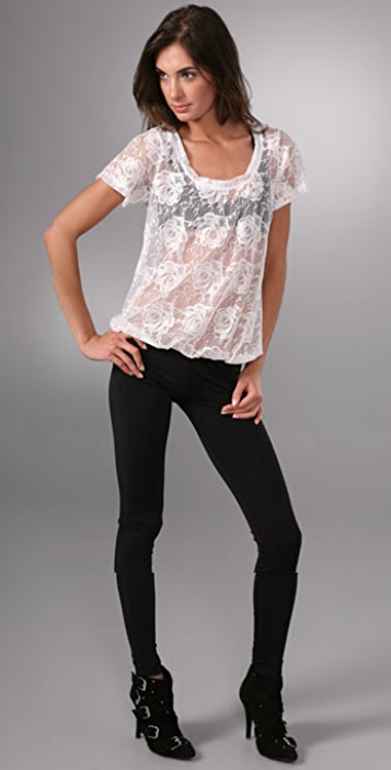 LNA Lace Tee / Leggings Bodysuit