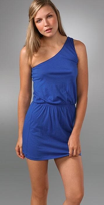 LNA One Shoulder Elastic Waist Dress