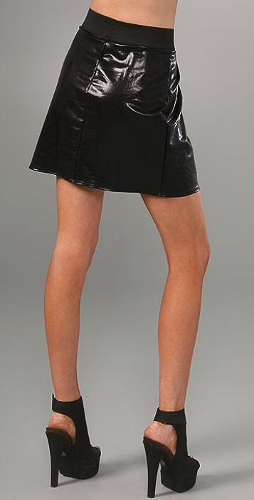 LNA Elastic Waist Miniskirt