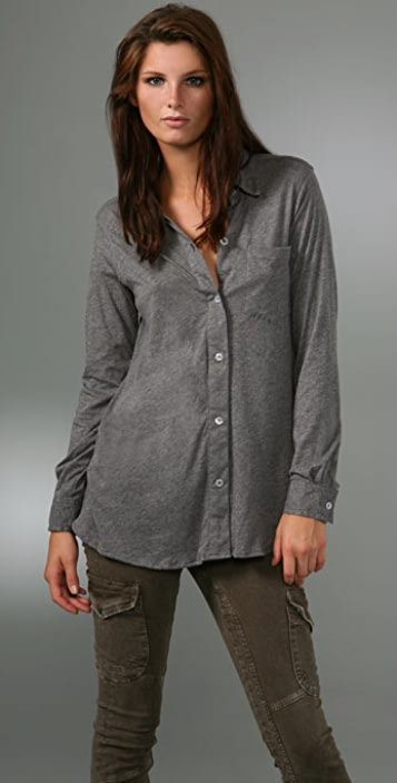 LNA Long Sleeve Collar Shirt