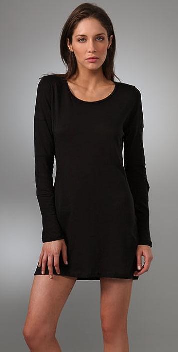 LNA Long Sleeve Delta Dress