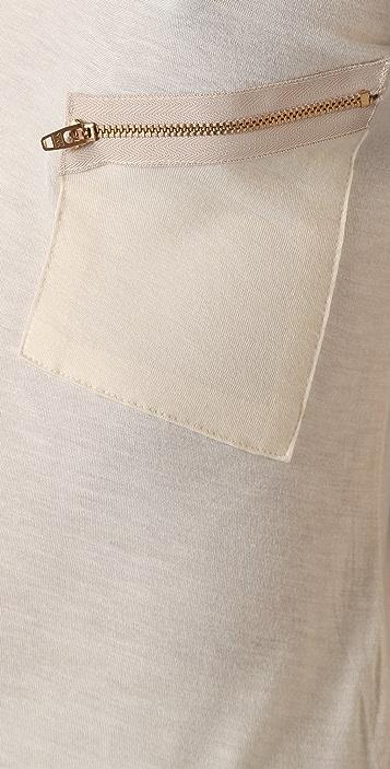 LNA Slant Zipper Pocket Tee
