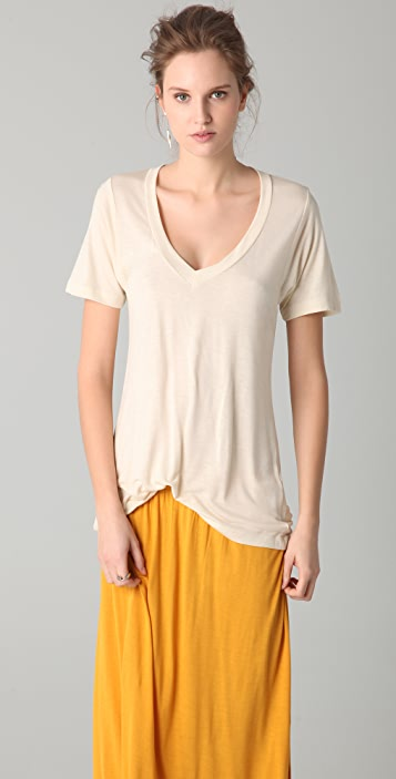 LNA Relaxed Deep V Neck Tee