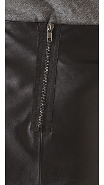 LNA Charming Leather Skirt