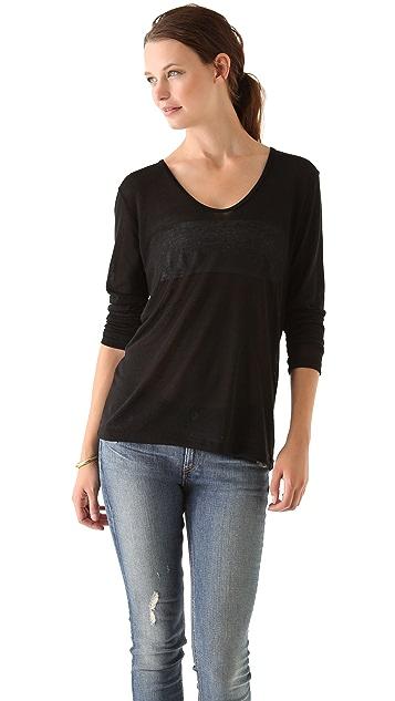 LNA Vogal Cutout Sweater
