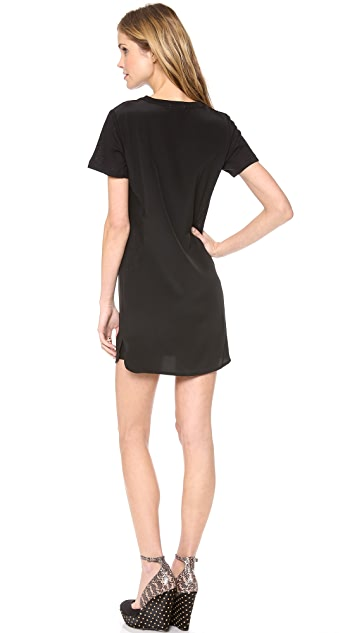 LNA Belle Silk Tee Dress