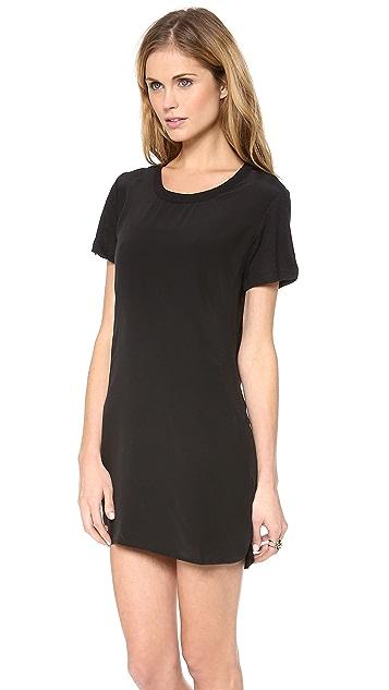 LNA Belle Silk Tee Dress