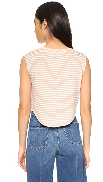 LNA Atlanta Ribbed Crop Top