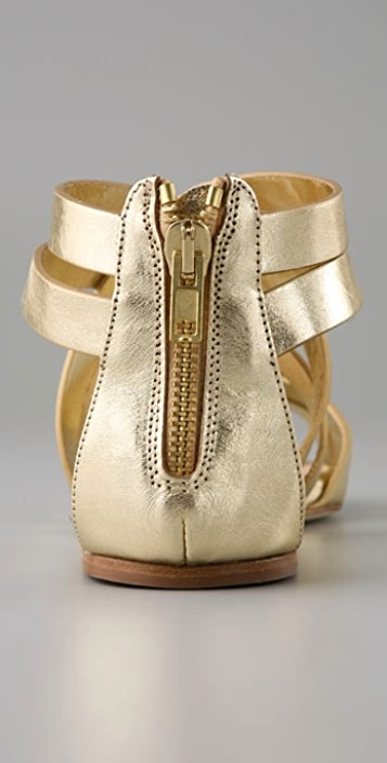 Loeffler Randall Margo Crisscross Zip Back Sandals