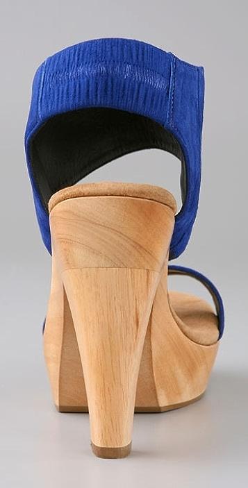 Loeffler Randall Ever Wood Platform Sandals