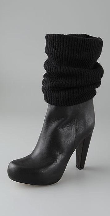 Loeffler Randall Wendy Knit Cuff Booties