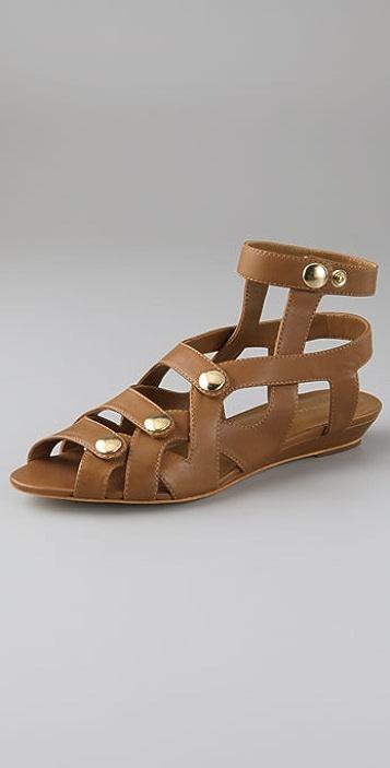 Loeffler Randall Audra Snap Flat Sandals