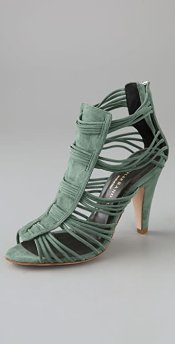 Loeffler Randall Kylie Strappy Suede Sandals