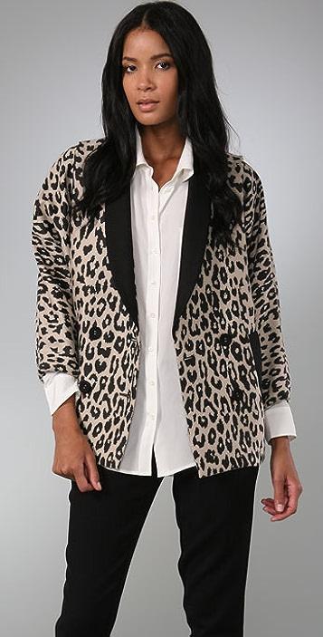 Loeffler Randall Combo Leopard Blazer
