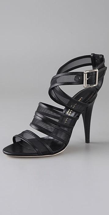 Loeffler Randall Paige Mesh Crisscross Sandals