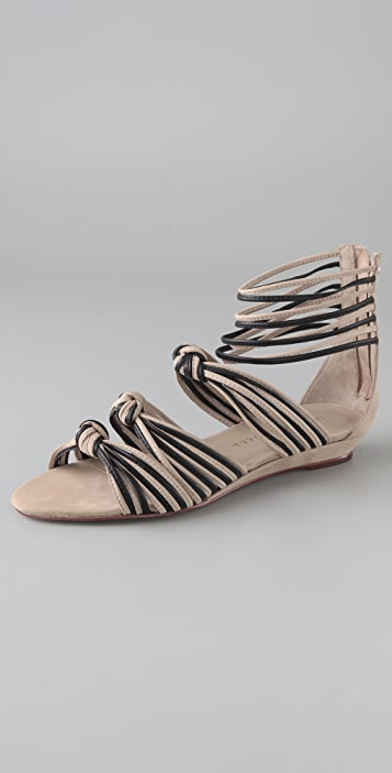 Loeffler Randall Enid Mignon Suede Knotted Sandals