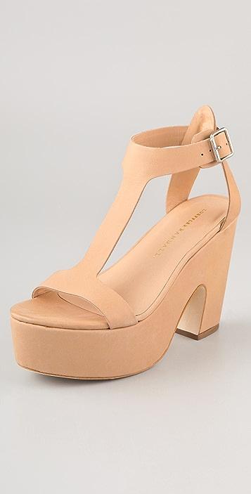 Loeffler Randall Chloe T Strap Platform Sandals