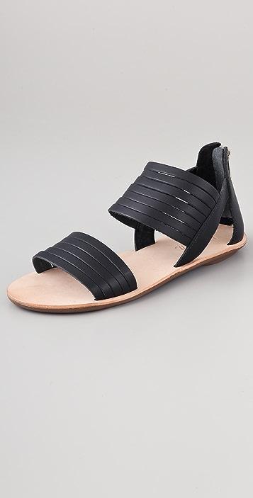 Loeffler Randall Heart LR Sam Flat Sandals