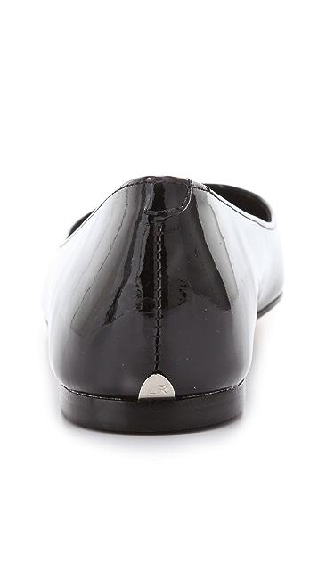 Loeffler Randall Natalie Studded Toe Flats