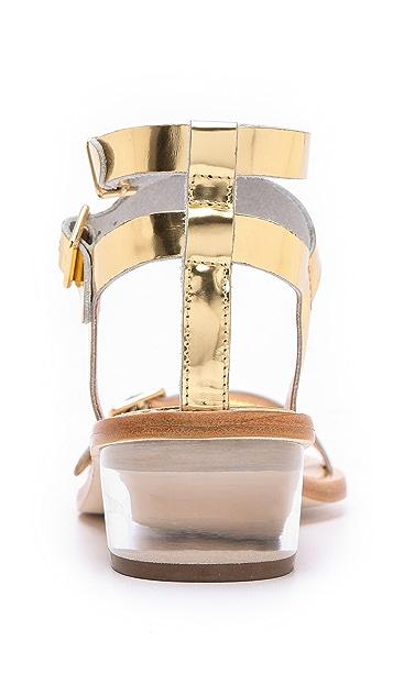 Loeffler Randall Heddie Lucite Heel Sandals