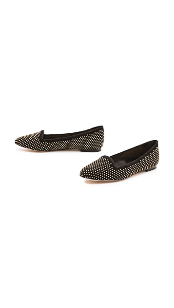Loeffler Randall Blaise Studded Suede Loafers
