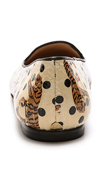 Loeffler Randall Blaise Tiger Dot Loafers