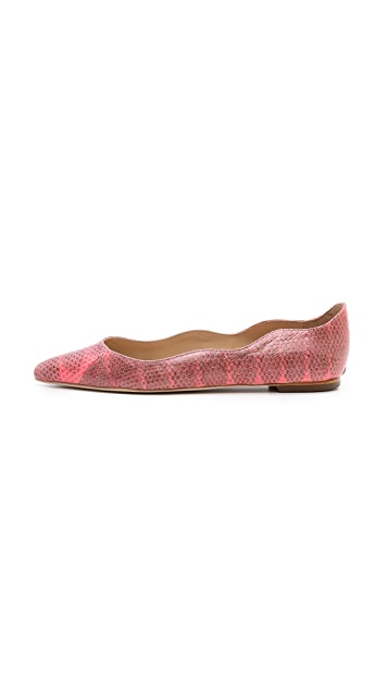 Loeffler Randall Milla Snake Ballet Flats